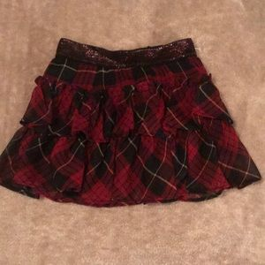 Adorable plaid Ralph Lauren ruffle skirt